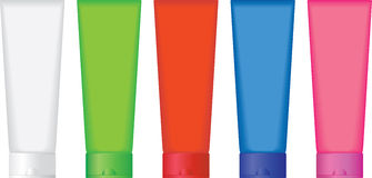 Colorful tubes. A set of tubes in various colors Royalty Free Stock Images