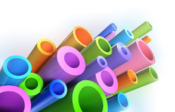 Colorful tubes . Background pattern. 3D render Royalty Free Stock Image