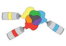 Colorful tubes of colors Stock Photography