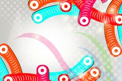 Colorful tubes on corner, abstract background Stock Photography