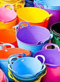 Colorful tubs Royalty Free Stock Images