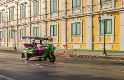 Colorful tuk tuk. Fast driving colorful Tuk Tuk in Bangkok,Thailand Stock Photography