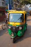 Colorful tuk-tuk in the street of Delhi, India Stock Photo
