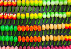 Colorful tulip flower magnets in Amsterdam Stock Image