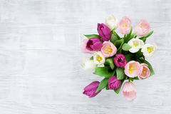Colorful tulips bouquet Royalty Free Stock Photo