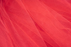 Colorful Tulle on Satin Fabric Background #6 Stock Photo