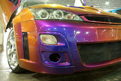 Colorful tuned car royalty free stock photography