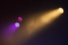 Colorful tungsten and LED scenic spot lights Royalty Free Stock Photo