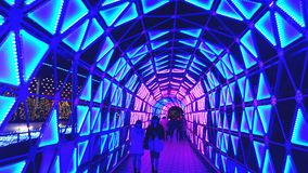 Colorful tunnel illumination, Tokyo Dome Royalty Free Stock Image