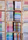 Colorful Turkish Bath Towels. Made of organic cotton, known as Hamam Pestemal Stock Photos