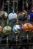 Colorful turkish ceramic balls as souvenirs Stock Photo