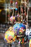 Colorful turkish ceramic balls Royalty Free Stock Image