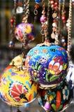 Colorful turkish ceramic balls Stock Images