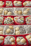 Colorful Turkish cookies close up Royalty Free Stock Photography