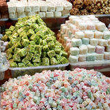 Colorful Turkish Delight Royalty Free Stock Photo