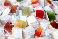 Colorful Turkish delight Stock Photography