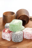 Colorful turkish delight Royalty Free Stock Image