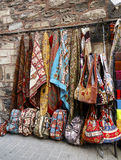 Colorful Turkish design souvenirs in street, Istanbul, Turkey. Stock Image