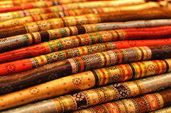 Colorful Turkish fabric. Rolls of colorful and traditional Turkish fabric Stock Photos