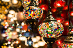 Colorful Turkish lanterns Stock Photo