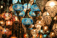 Colorful Turkish Laterns Stock Images