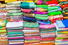 Colorful turkish scarf on Grand bazaar Stock Photography