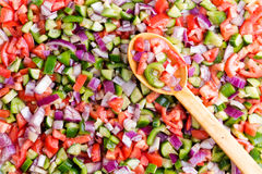 Colorful Turkish shepherd salad background texture Royalty Free Stock Photography