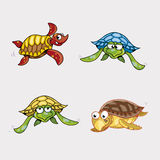 Colorful Turtles Cartoon Vector Stock Photo