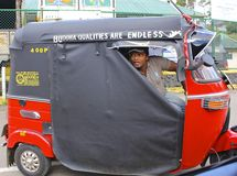 Colorful Tut-Tut Driver, Sri Lanka Royalty Free Stock Photo