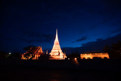 Colorful on twilight of Phra Samut Chedi Pagoda in Thailand. Stock Image