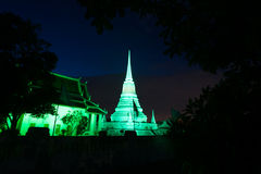 Colorful on twilight of Phra Samut Chedi Pagoda in Thailand. Stock Photography