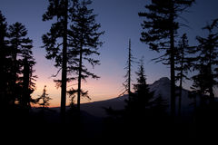 Colorful Twilight Vista of Mount Hood Stock Image