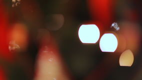 Colorful twinkle lights and bokeh in defocus. Christmas tree and New Year, Holiday stock video