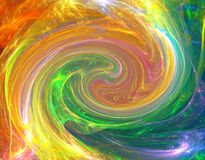 Colorful twirl. Happy twirl fractal background with rainbow colors Royalty Free Stock Photo