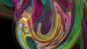 Colorful twirl abstract background loop stock footage
