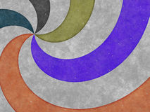 Colorful twirl on old paper texture Royalty Free Stock Photo