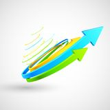 Colorful Twisted Arrow Royalty Free Stock Photos