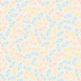 Colorful twisted candies. Seamless pattern. Sweet food background. Royalty Free Stock Photography