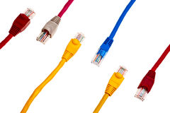Colorful twisted pair patchcords. Stock Images