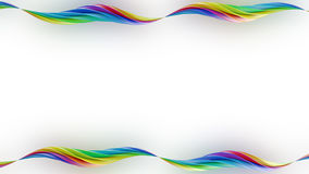 Colorful twisted shapes on white 3D render Royalty Free Stock Images