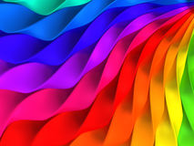 Colorful twisted stripe background. 3d illustration Stock Image