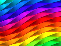 Colorful twisted stripe background. 3d illustration Stock Photo