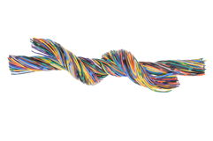 Colorful twisted wires. Isolated on white background Stock Image