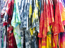Colorful Tyedye Shirts. In a Rainbow of Colors stock photos