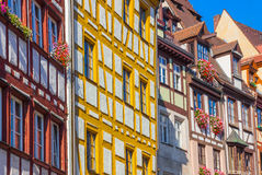 Colorful typical german houses- Nuremberg, Germany royalty free stock images