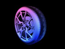 Colorful tyre Stock Images