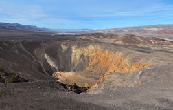 The Colorful Ubehebe Crater in Death Valley National Park Royalty Free Stock Images