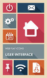 Colorful UI web apps user interface flat icons. Royalty Free Stock Photo
