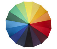Colorful umbrella. A colored umbrella isolated on a white background Stock Photos