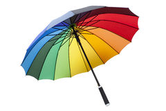 Colorful umbrella. A colored umbrella isolated on a white background Stock Photo